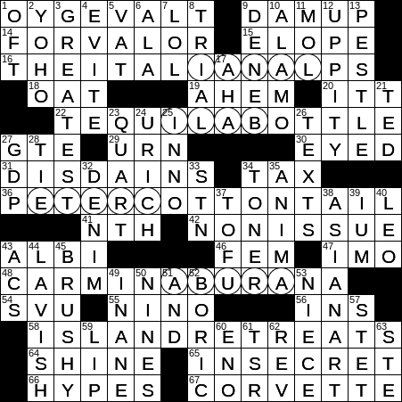 La Times Crossword Answers 9 Aug 2018 Thursday Laxcrossword Com