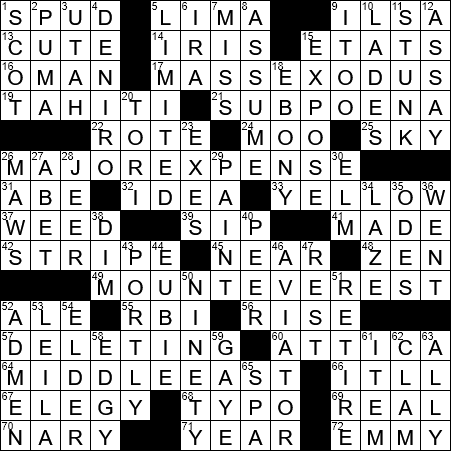 Significant other crossword clue