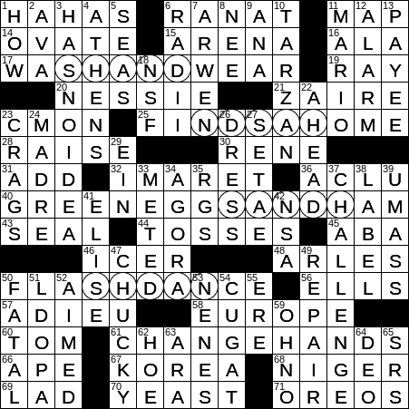 recipe: have a wash crossword clue [37]