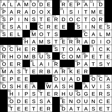 recipe: have a wash crossword clue [20]