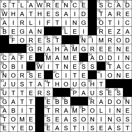 N A Boundary River Crossword Clue Archives Laxcrossword Com