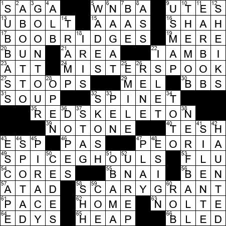 Actor Who S Anxious To Get The Halloween Party Startled Crossword Clue Archives Laxcrossword Com