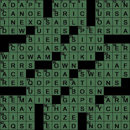 La Times Crossword 30 Nov 18 Friday Laxcrossword Com