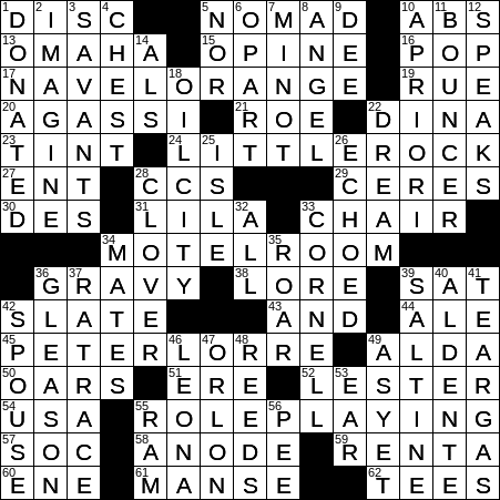 single use crossword clue