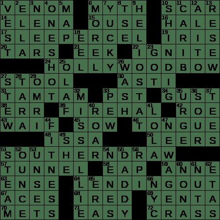 general standard crossword clue
