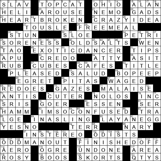 word used in dating crossword clue