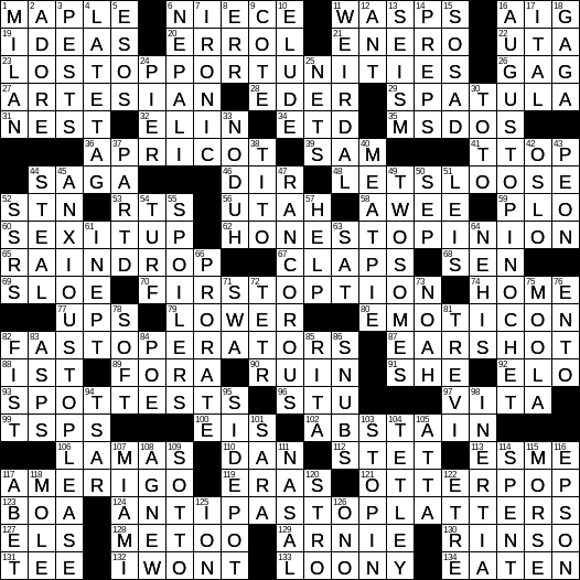 graphic relating to Washington Post Sunday Crossword Printable referred to as LA Occasions Crossword 23 Dec 18, Sunday -